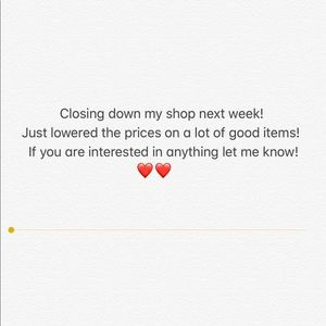 Other - Closing down shop!